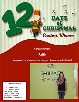 12 Days Contest Winner