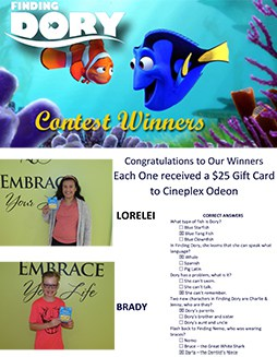 finding dory contest winners small