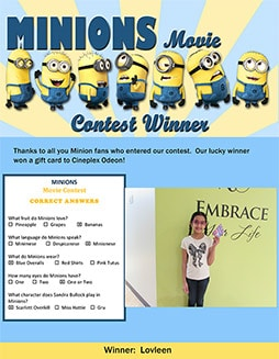 minions contest winners small