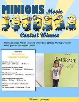 minions contest winners small