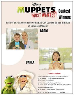 Muppet Contest Winner